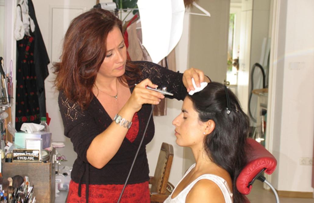 braut-make-up styling